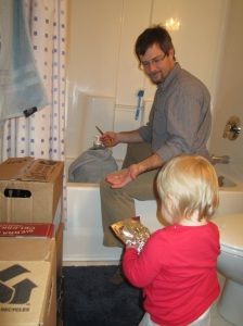 Helping Daddy dry hop the Kern Citra DIPA