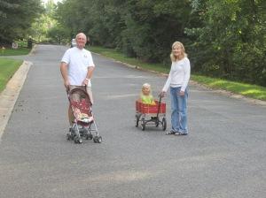 Wagon ride with Buppa and Grandma Kathy