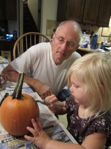 Making a super scary pumpkin