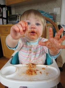 Mmmm... tomato sauce!